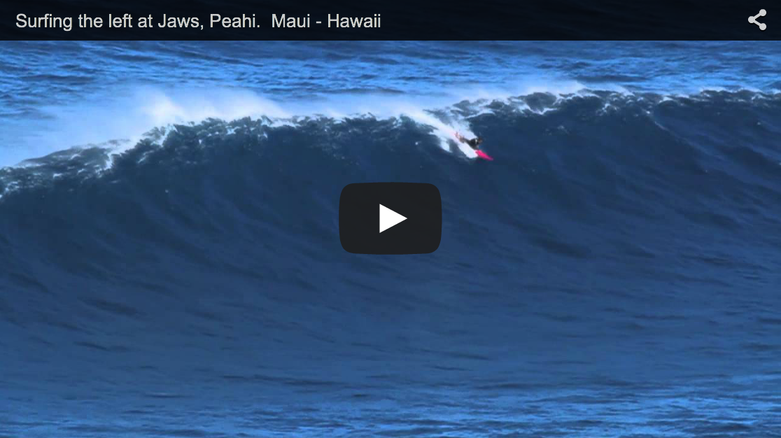 Surfing the left at Jaws, Peahi. Maui – Hawaii