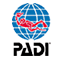 PADI logo scuba dive training Oahu
