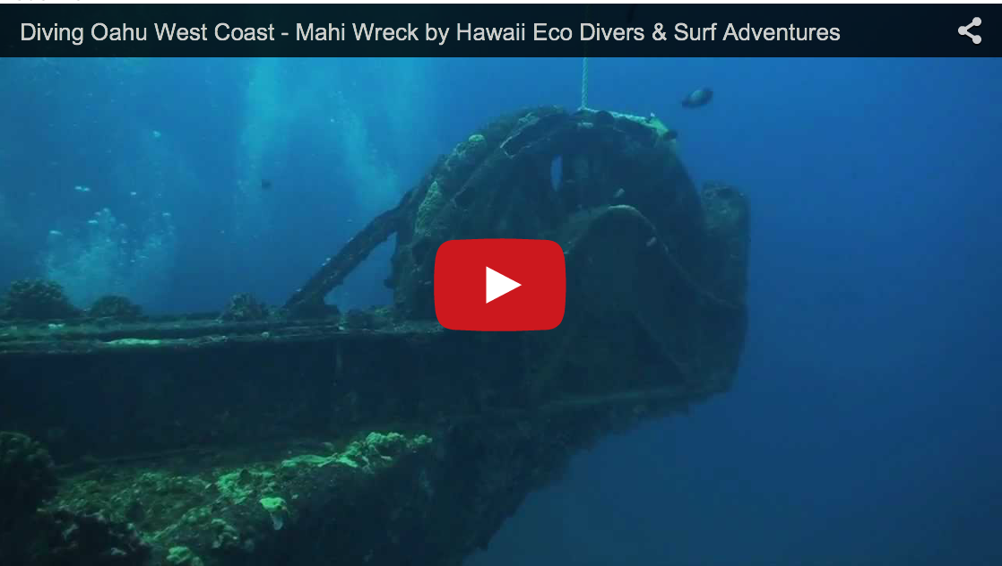 Diving Oahu West Coast – Mahi Wreck