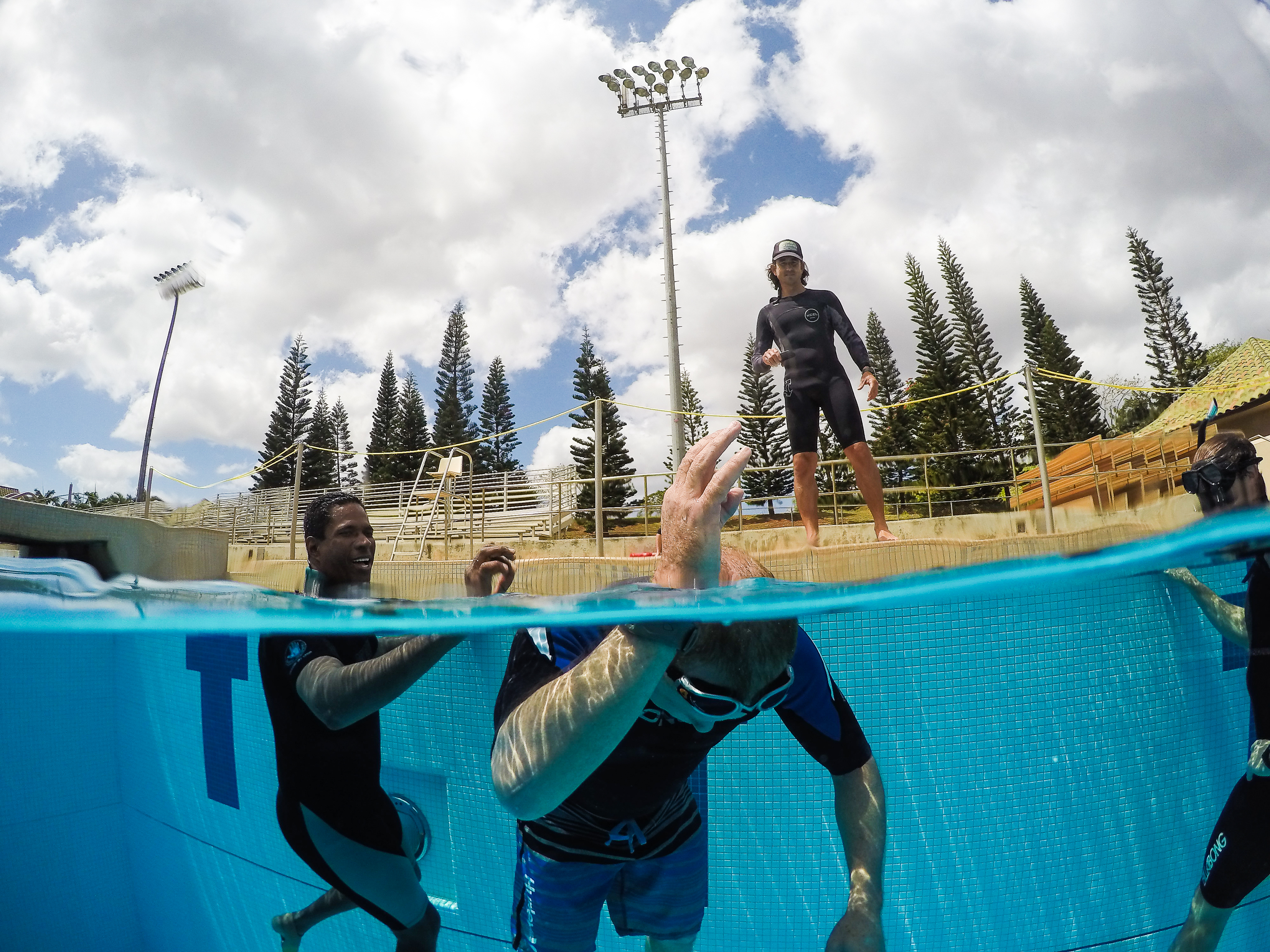 pool session at apnea course with hawaii eco divers
